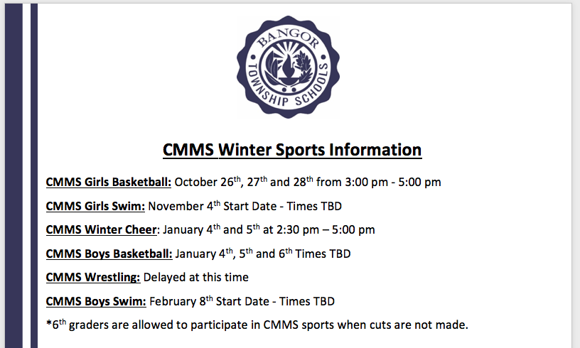 CMMS Winter sports