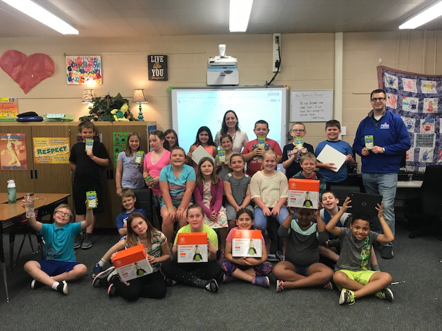 4th grade with their gifts!