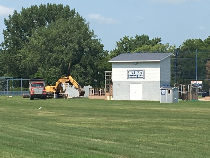 Baseball Dugouts Coming Down