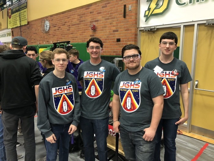 Drive Team - Lucas Pobans, Andy Braden, Jacob Martin and Lucas Neitzel