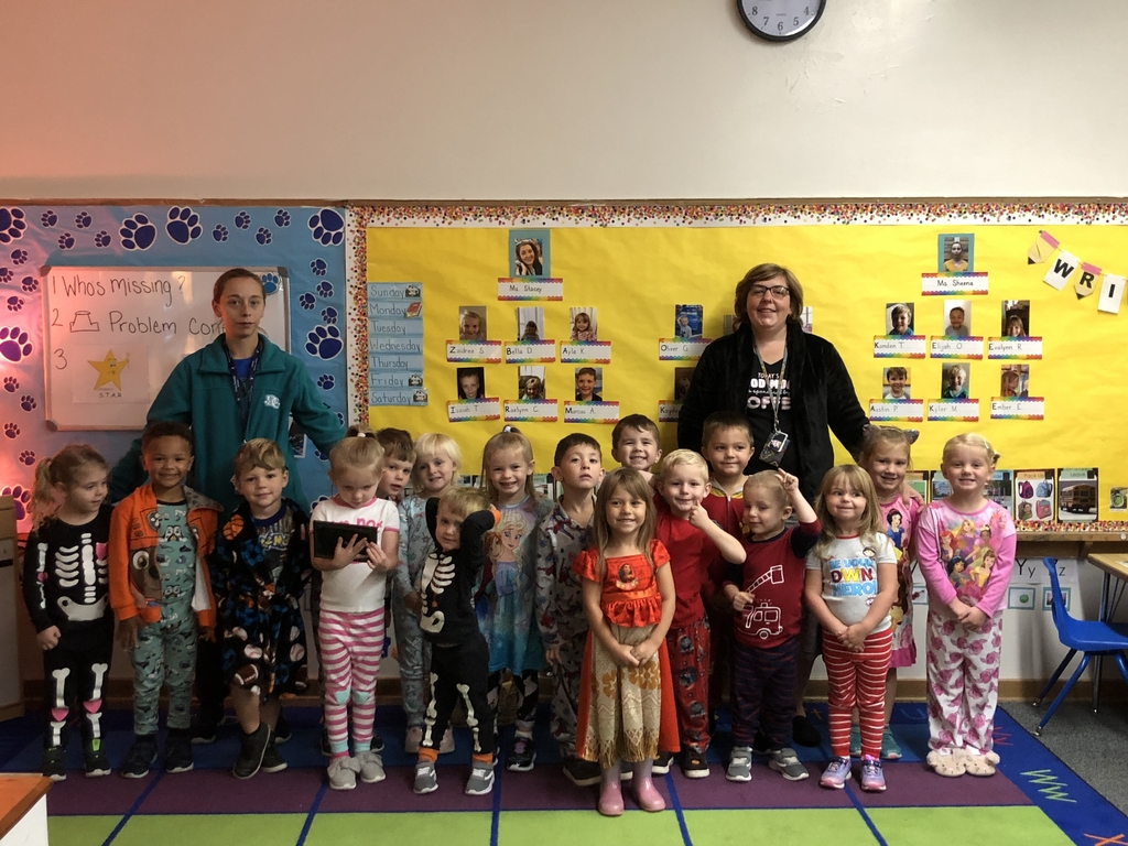 Miss. Stacey's class loved Pajama Day!