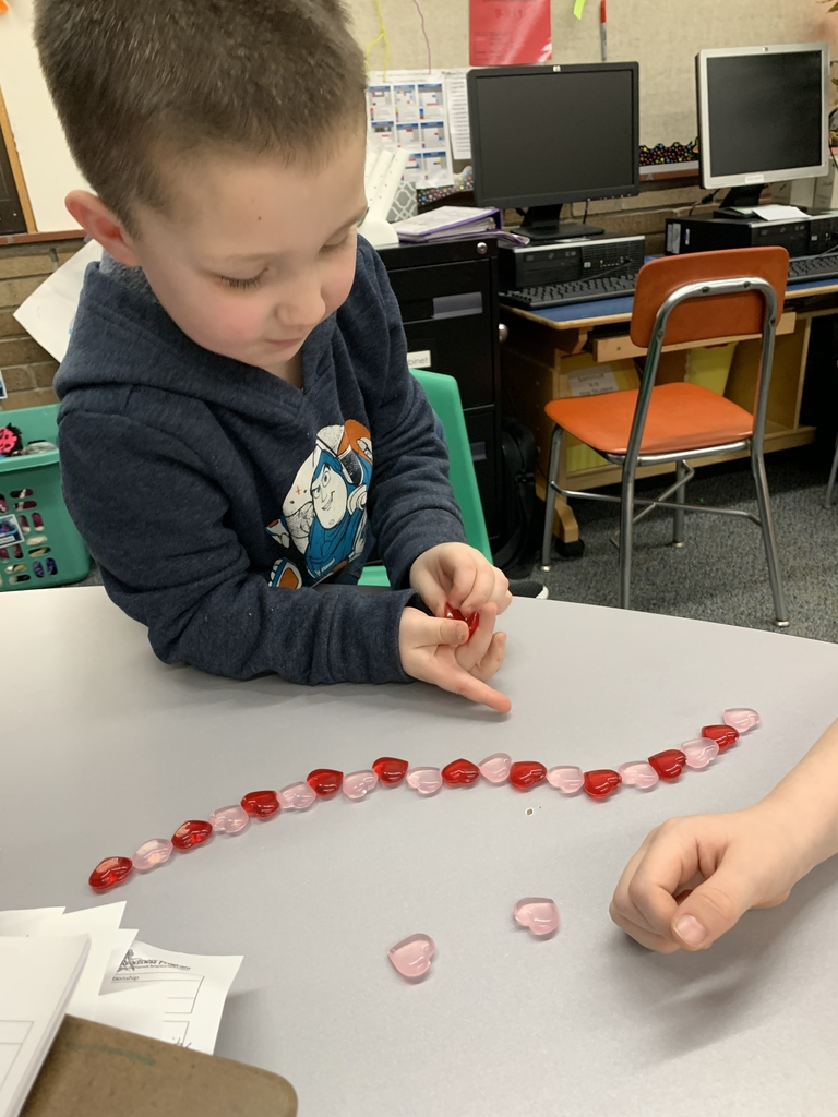 Making heart patterns.