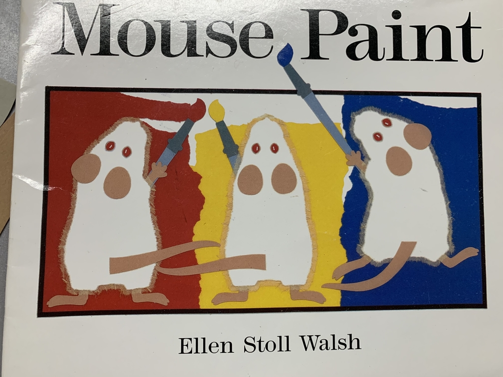 Today we read the story Mouse Paint and learned how to make new colors using primary colors.